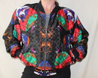 Vintage DeVogue Satin Bomber Jacket