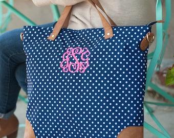 Monogrammed Shoulder Bag, Personalized Tote Bag, Bridesmaid Tote Bag, Canvas Shoulder Bag, Embroidered Tote Bag, Monogram Carry On