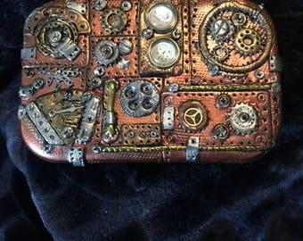 Steampunk altered altoid tin or stash box