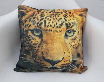 Leopard Printed Pillow Case 17x17 Cushion Covers Animal Print Decorative