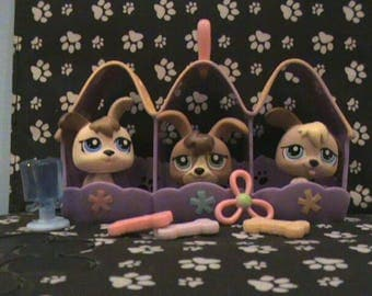 Lps puppies set of booth cute toys
