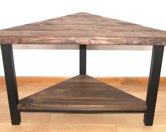 industrial wood u0026 steel bench rustic corner bench