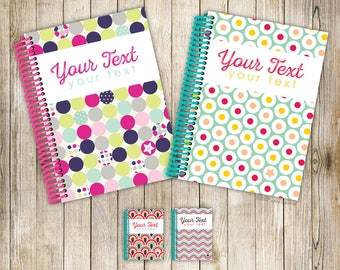 My Fancypants Notebook: Shapey Shapes collection (Handmade personalised notebook)