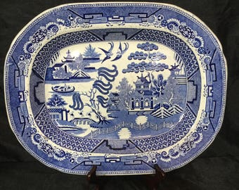 A huge 19th century, Staffordshire platter