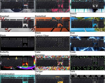 Choose Any 2 Designs - Vinyl Skins / Decals / Stickers for Logitech K800 Keyboard