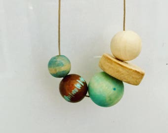 Wooden bead necklace | Hand dyed | Dune Collection
