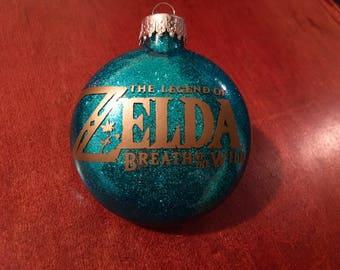 The Legend of Zelda Breath of the Wild Inspired Glitter Ornament