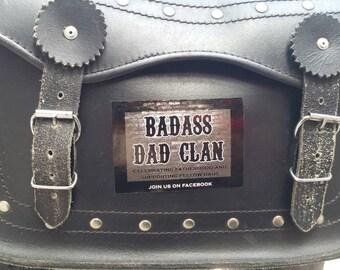 Badass Dad Clan Sticker Collectible Vinyl Decal Indoor Outdoor Internal External Car Motorcycle Van Boat Bike Helmet Father Parent Daddy