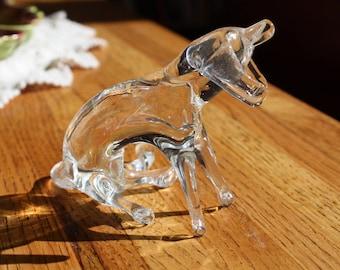 Vintage Glass Dog Figurine