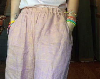 100% linen FLAX brand rose gold shorts