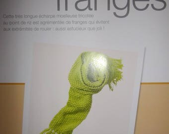 data to learn how to make a fringed scarf