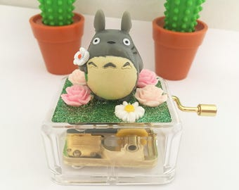 Studio Ghibli Figurines Music Crank Box - Totoro