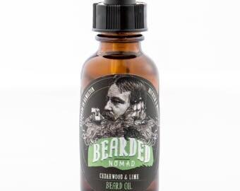 Cedarwood and Lime Beard and Moustache Oil