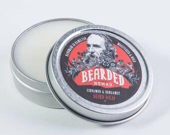 Bearded Nomad's Cinnamon and Bergamot beard and moustache balm