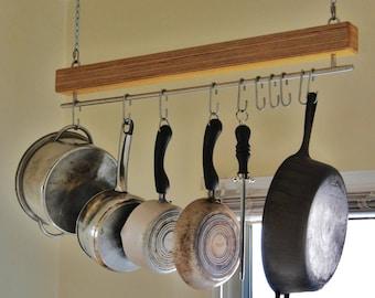 Handmade Baltic Birch Hanging Pot Rack
