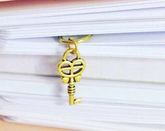 Büroklammer goldene Schlüssel