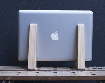 Handcrafted Laptop & Keyboard Stand - Reclaimed Australian Pine Wood - Eco friendly