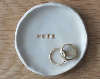 Ring dish, Hope dish, Ceramic ring dish, Jewlery dish, Ring holder, Coaster