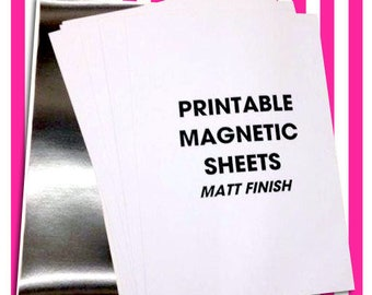 Magnetic Photo Paper 5 or 10 Sheets A4 MATT for Ink Jet Printable