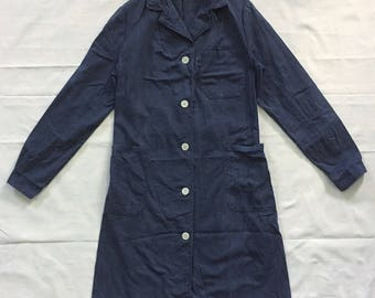 Women Vintage HBTWork Shopcoat Euro Workwear Navy Rare clothing