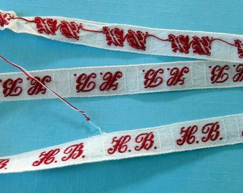 Monogram HB initials fabric sewing (ref 733 25 05)