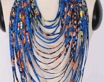 Africanprint Layered Colourful necklace