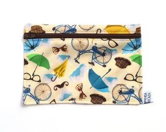 Sac à collation réutilisable - Vélos - Reusable snack bag - 1 SMALL snack bag - London Bikes