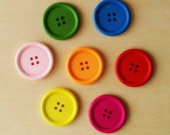 """Set of wooden """"Round"""" buttons 05 - multicolored"""