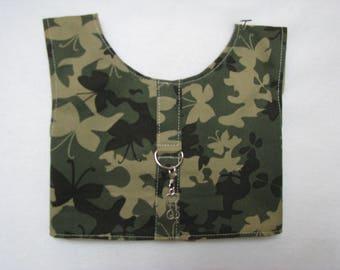 Dog Pet Rabbit Pig Camophlage Print Harness Vest  Size XS S Charm Yorkie Maltese ShihTzu Chihauhau