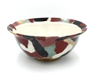 Dazzling Hand Painted Serving Bowl