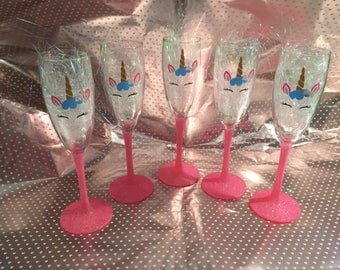 Unicorn champagne glass