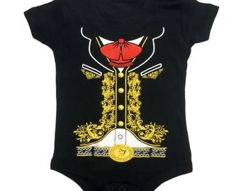 BABY INFANT Body-Suit One-Piece Mexican Mariachi Charro Halloween Costume T-Shirt