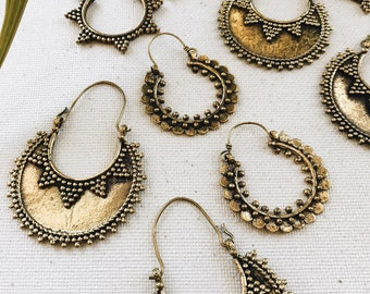 Origin Hoops // African Jewelry, Continent Jewelry, Afrocentric, Ethnic Jewelry, Africa Earrings, Gold Earrings, Stud Earrings