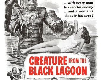 Summer Sale Creature from the Black Lagoon 1954 Adventure/Horror Movie POSTER