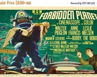 ON SALE NOW: Forbidden Planet Movie Poster Rare 50's Horror
