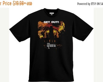 SPRING SALE: The Amityvile Horror 'Get Out' SHIRT 1970s Horrror