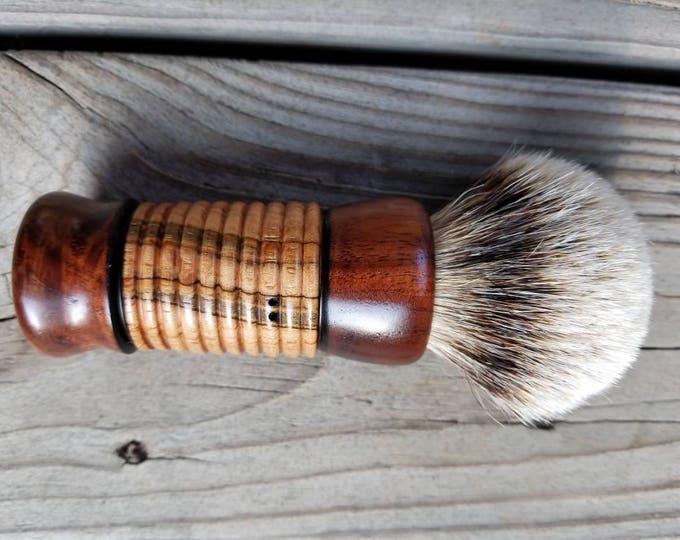Burled Walnut/Ambrosia Maple Shaving Brush, Custom, Handmade,  Handcrafted, Free Shipping