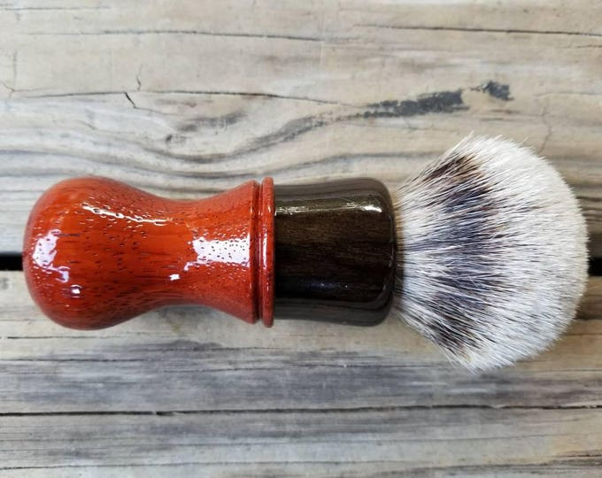 Ebony/Bloodwood Shaving Brush, Handmade, Free Shipping