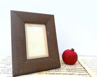 French vintage plastic photo frame / Retro / Home decor / Seventies /