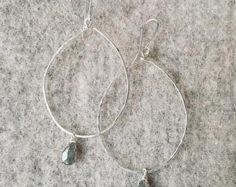 Diamond quartz  hoops