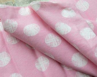 "Sale ~ AVALANA Jersey Knits by STOF fabrics 63"" Wide | ST19-112 | White Dots on Pink"
