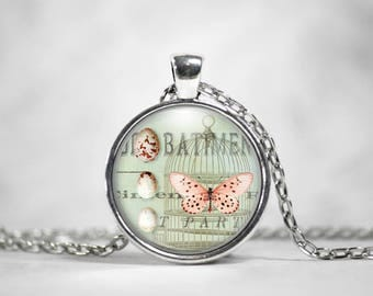 Vintage Art Pendant, 25mm Round Pendant, Gifts For Her