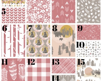 bear crib bedding, girl nursery bedding, baby bear, plain crib bedding, pink and gray bedding, taupe bedding, berry bedding, woodland