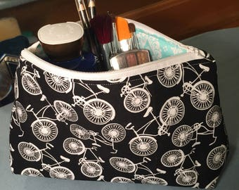 Bicycle Cosmetic Bag / Bicycle Makeup Pouch