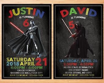 Darth Vader Invitation, Star Wars Invitation, Star Wars Birthday Invitation, Star Wars Invite, Printable Darth Vader Invite, Digital File