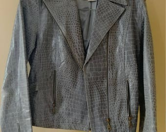 Vintage leather jacket women's size medium