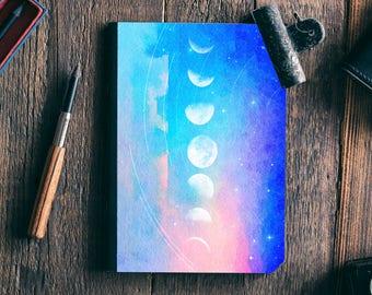 Moon Phase Writing Journal, Dream Journal, Gift for Her, Writer Journal, Gift for Women, Hardcover Notebook, Notebook, Bullet Journal