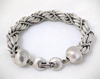 Silver bracelet by Monet