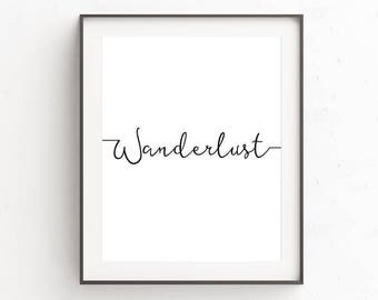 Rustic Wall Decor, Wanderlust Gifts, Travel Quotes, Rustic Home Decor, Wanderlust, Boho Girlfriend Gift, Travel Printable Art, Quote Prints