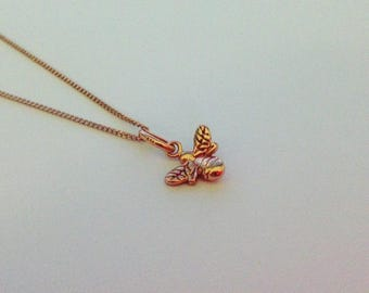 Bumble Bee Rose Gold Vermeil Necklace